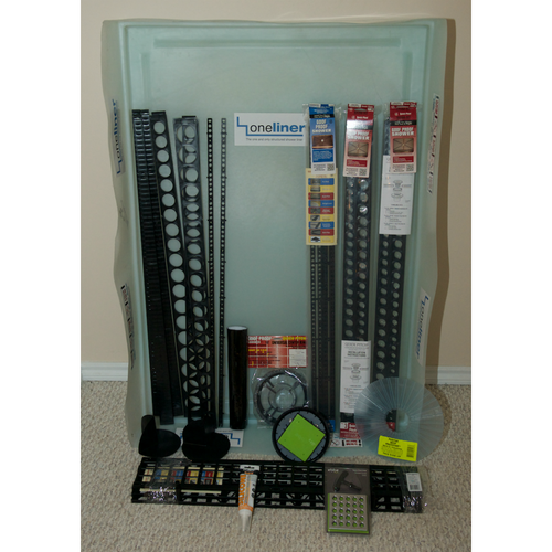 Rectangular OneLiner Complete Shower kit with Extensions and EBBE drain