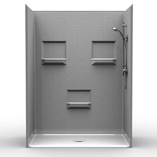 "Phoenix Shower  Kit 8"" Tile with choice of drain location"