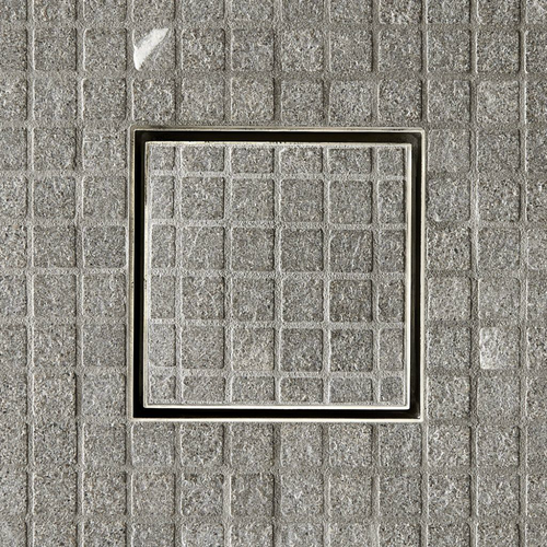 ACO Q-Plus Points Drain installed with ABS tile tray