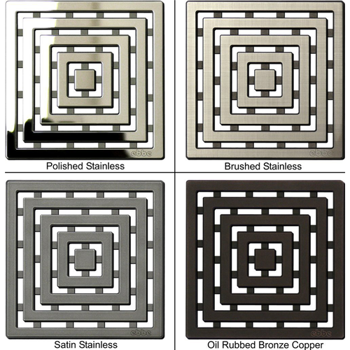 EbbeUnique Series Drain Grate finishes