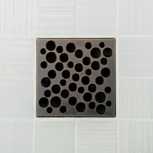 Ebbe Unique Design Grate in Oil Rubbed Bronze with Bubbles design