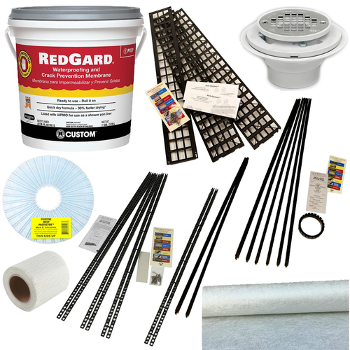 Red Gard Kit with Kirb-Perfect and Oatey PVC three piece drain