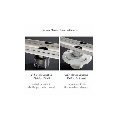 Two options for linear drains, one showing product 93871