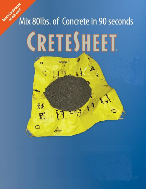 Crete Sheet mixing bag