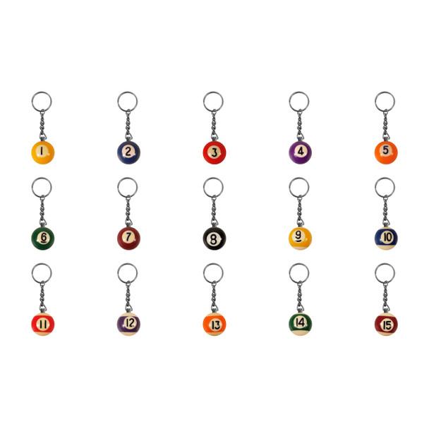 Pool Ball Keychain - Solid