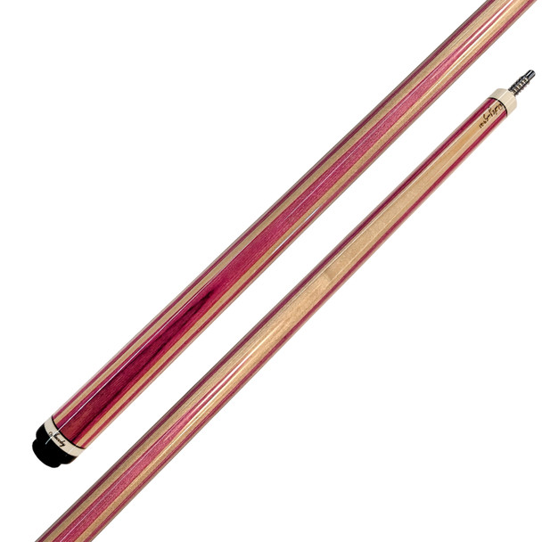 Jacoby Custom Cue - Laminated Pink and Natural Maple - Detail