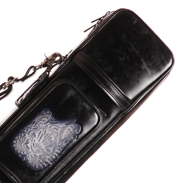 Instroke Soft Black G05 Pool Cue Case - 4x8 - Top