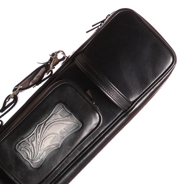 Instroke Soft Black G06 Pool Cue Case - 4x8 - Top