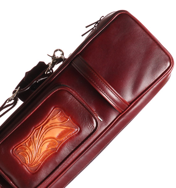 Instroke Soft Brown G06 Pool Cue Case - 4x8 - Top
