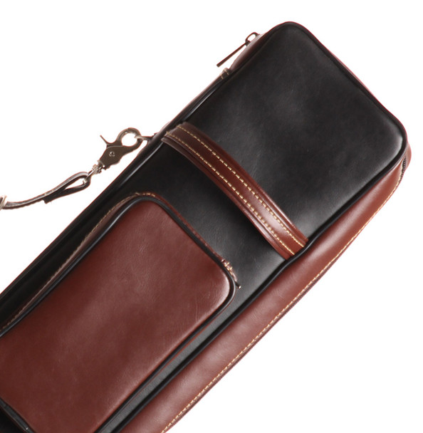 Instroke Soft Pool Cue Case | Leather Cowboy | 4x8 - Top