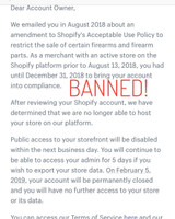 Banned from Shopify and Instagram in Less Than 24hrs!