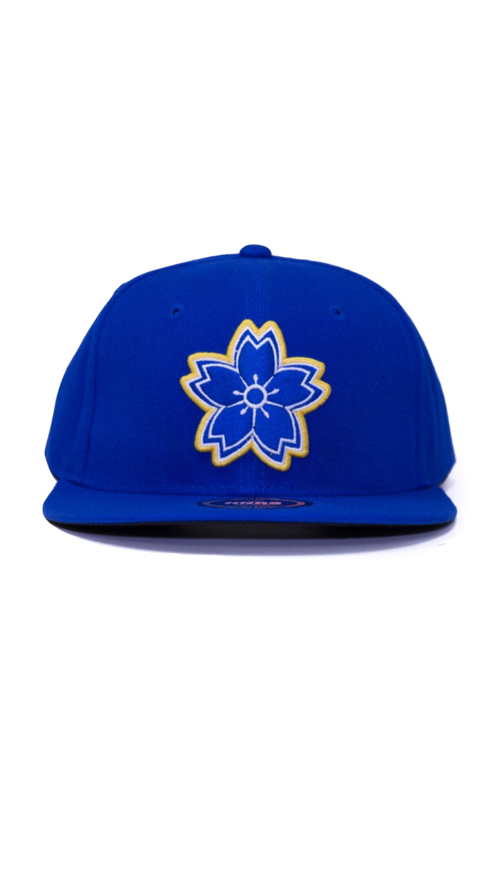 66ef8917 West Coast Sakura SnapBack (Blue/Yellow) - HNRS OC