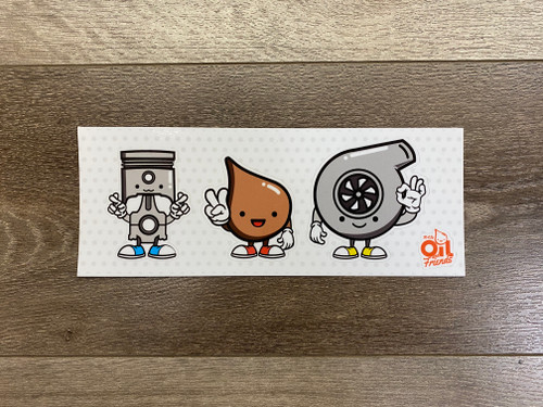 Oil and Friends 4-Sticker Pack