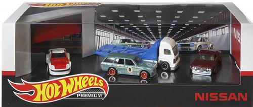 Hot Wheels Nissan Garage (Premium Collector's Set of 4)
