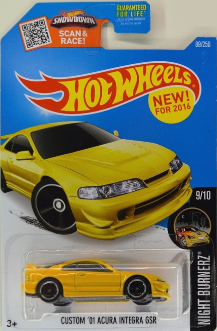 Acura Integra GSR Yellow - Hot Wheels