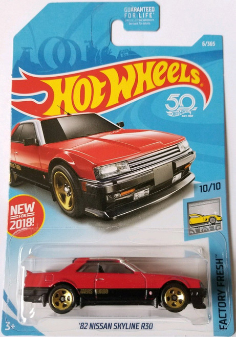 Nissan Skyline R30 Red/Black - Hot Wheels