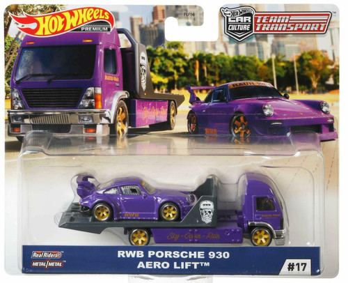 Team Transporter Hot Wheels Car Culture - Porsche RWB 930 Aero Lift