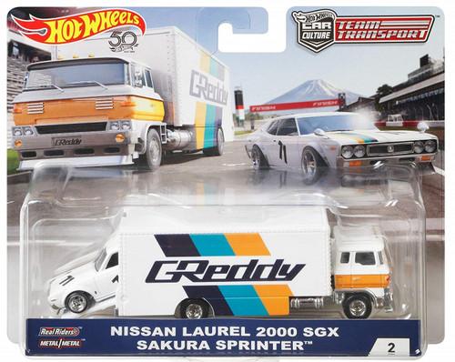 Team Transporter Hot Wheels Car Culture  - Nissan Laurel 2000 SGX Greddy Sakura Sprinter - SOLD OUT