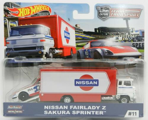 Team Transporter Hot Wheels Car Culture - Nissan Fairlady Z Sakura Sprinter