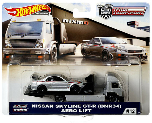 Team Transporter Hot Wheels Car Culture - Nissan Skyline GTR R34 Aero Lift -