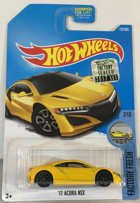 Acura NSX 2017 (Yellow) - Hot Wheels