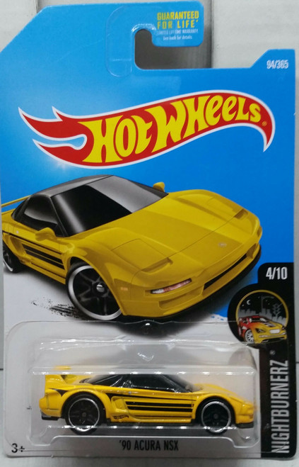 Acura NSX 1990 (Yellow) - Hot Wheels
