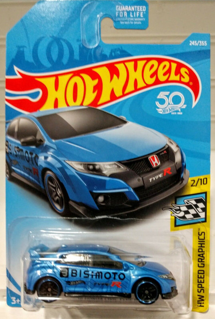 Honda Civic Type-R (Blue) - Hot Wheels