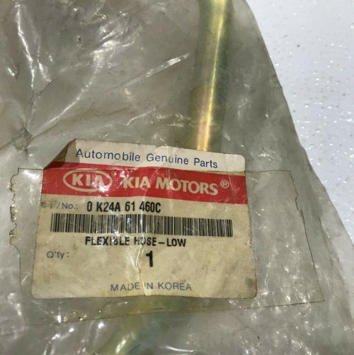 1995 Kia Sephia Low Pressure Suction Hose 0-K24A-61-460C 0K24A61460C OEM