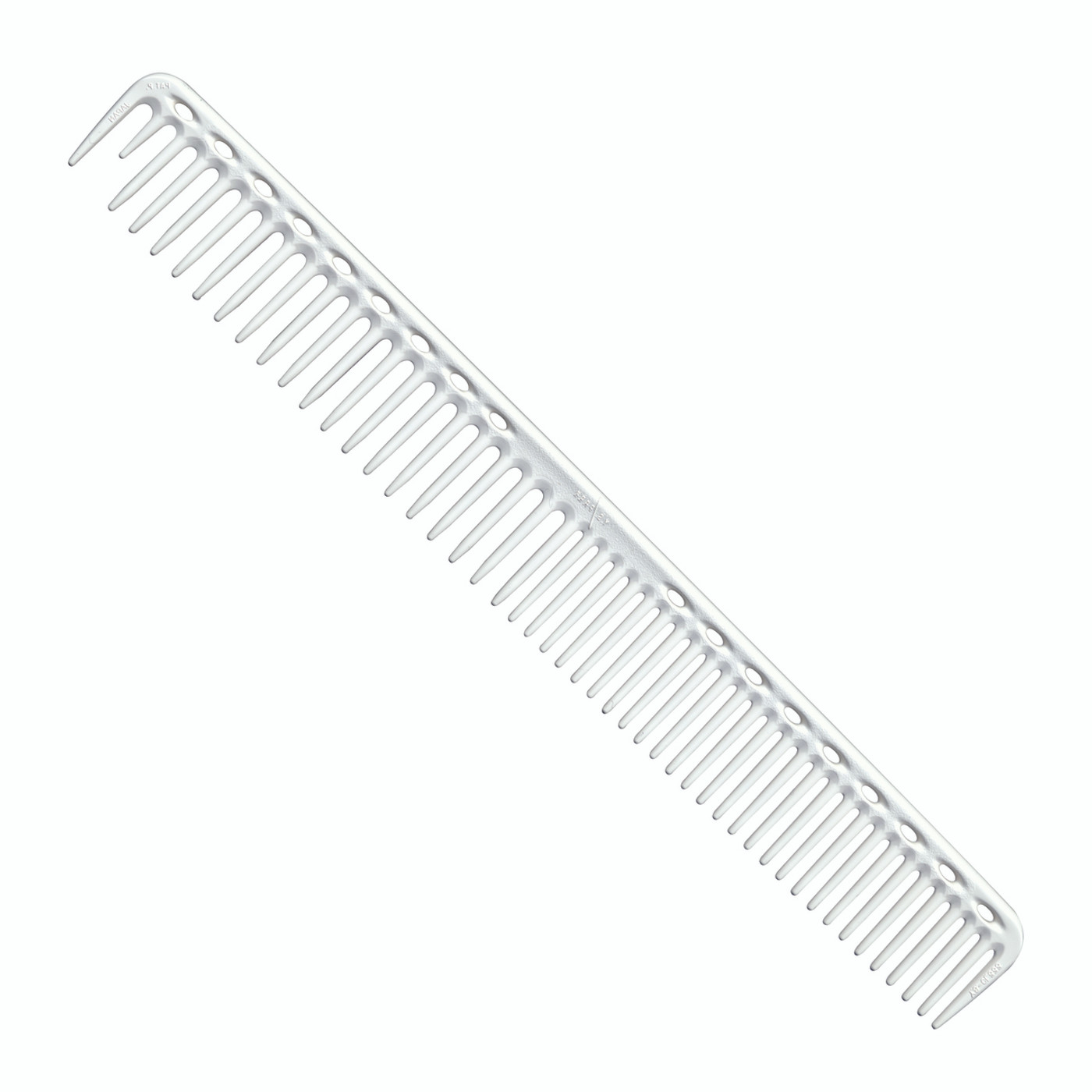 YS Park 333 Long Round Tooth Cutting Comb - White