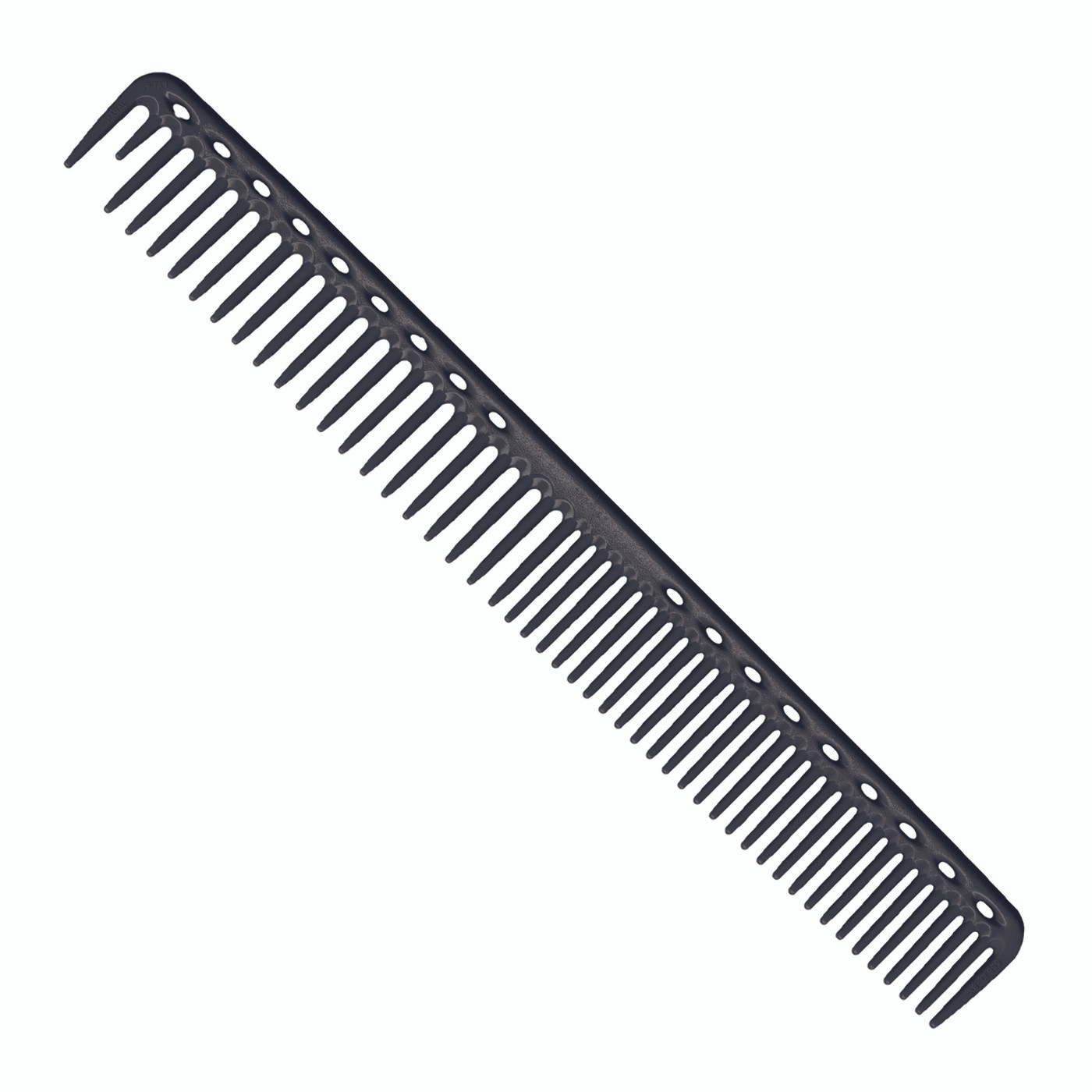 YS Park 333 Long Round Tooth Cutting Comb - Carbon Black