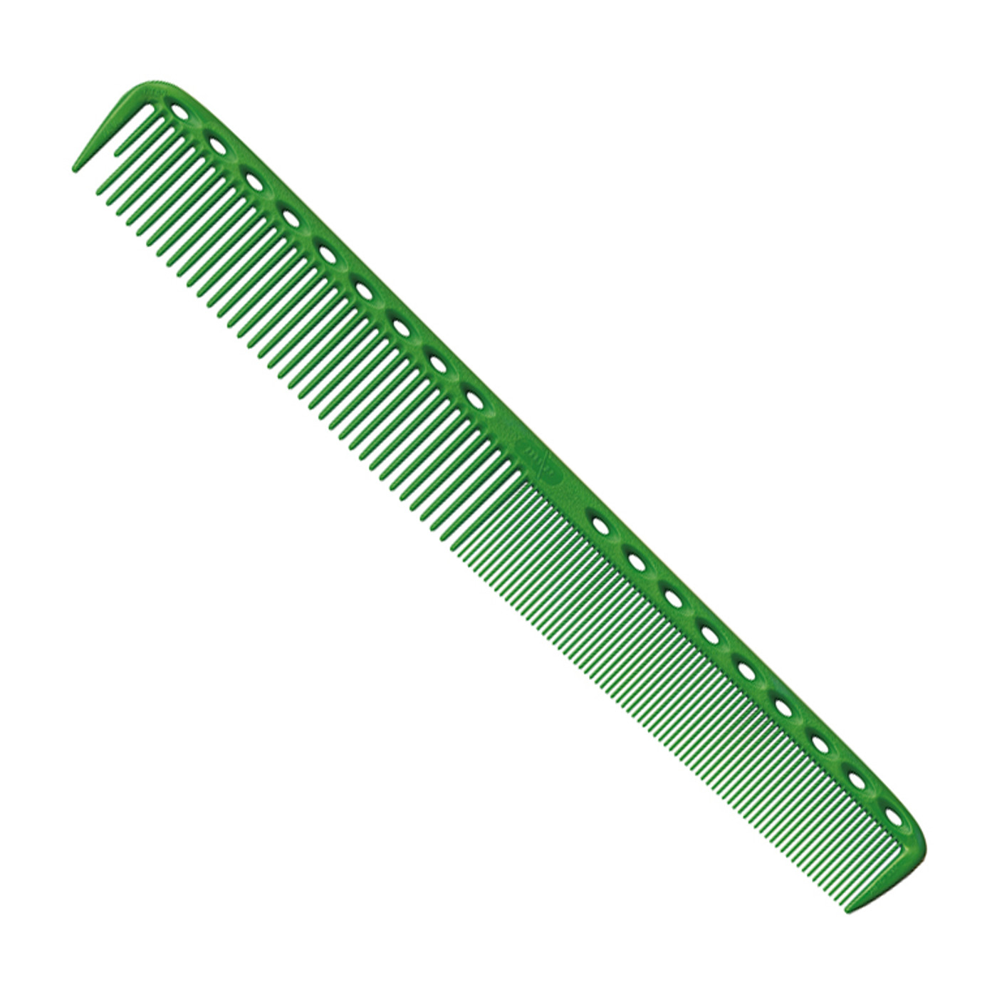 YS Park 335 Long Fine Tooth Cutting Comb - Green