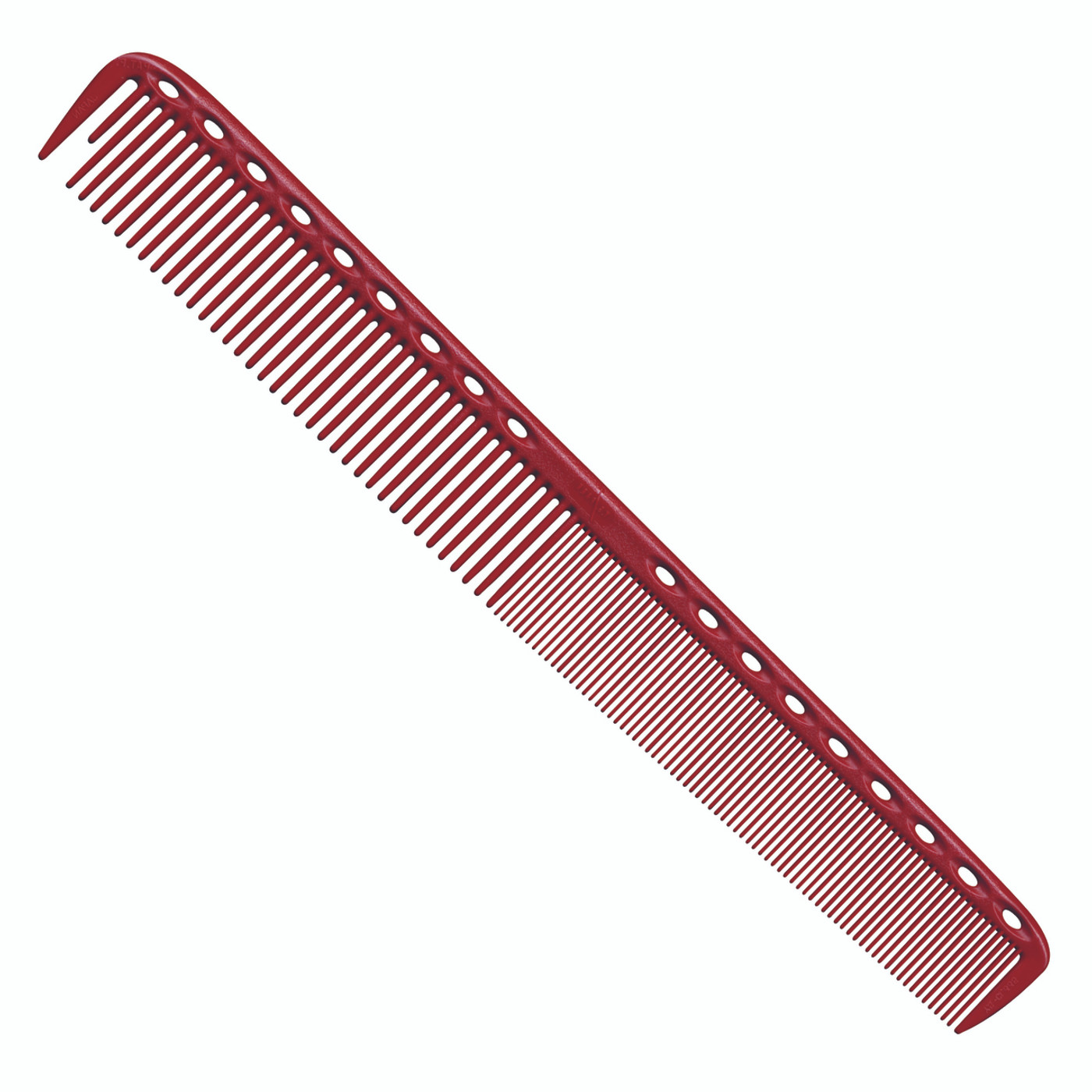 YS Park 335 Long Fine Tooth Cutting Comb - Red