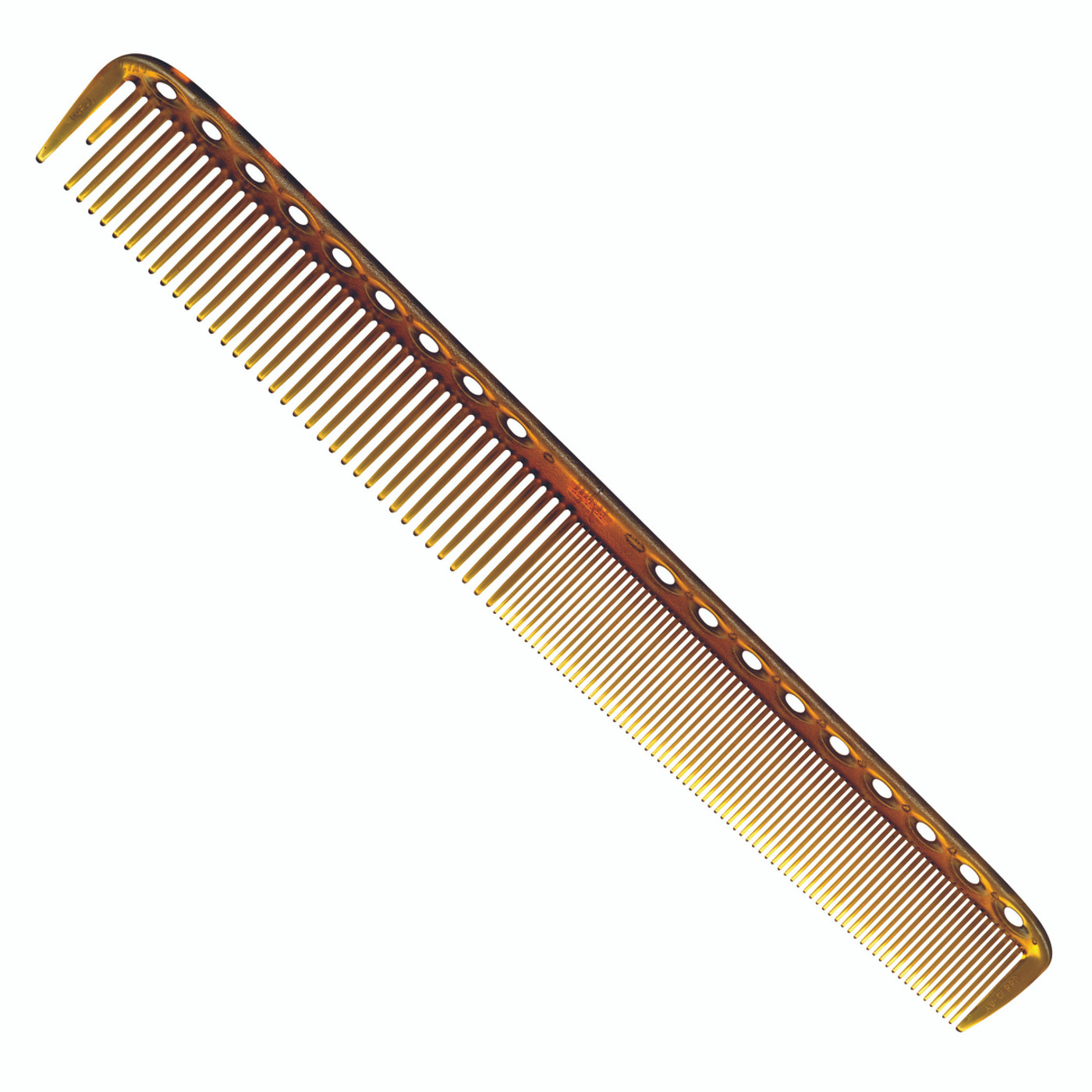 YS Park 335 Long Fine Tooth Cutting Comb - Camel