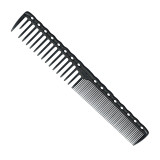 YS Park 332 Wide/Fine Tooth Cutting Comb - Carbon Black