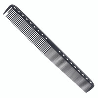 YS Park 335 Long Fine Tooth Cutting Comb - Carbon Black