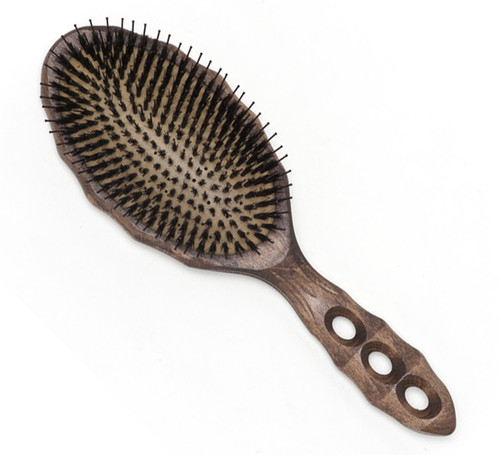 YS Park Soft Cushion Tortoise Hairbrush - Boar/Nylon (YS-90CS2)