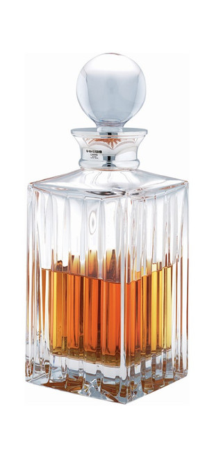 Crystal & Sterling Linear Square Decanter