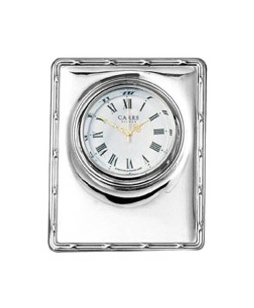 Sterling Reed & Ribbon Edge Clock