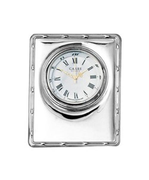 Sterling Reed & Ribbon Edge Clock
