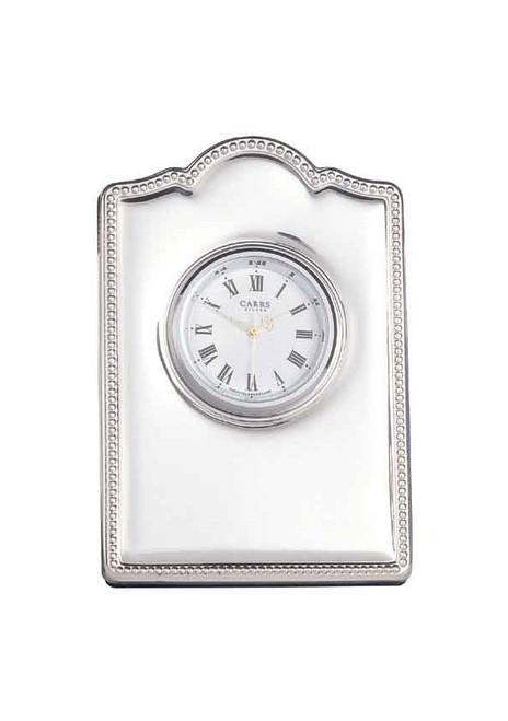 Sterling Bead Edge Clock