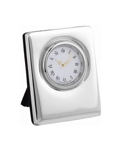 Sterling Plain Edge Clock