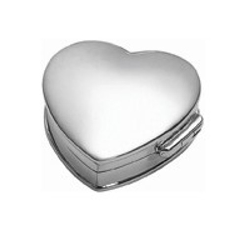 Sterling Heart Pillbox