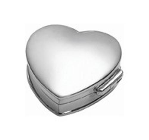Sterling Heart Pillbox