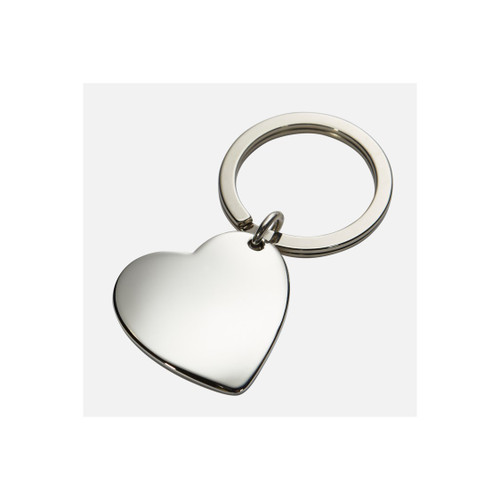 Sterling Heart Key Fob Shinny Finish
