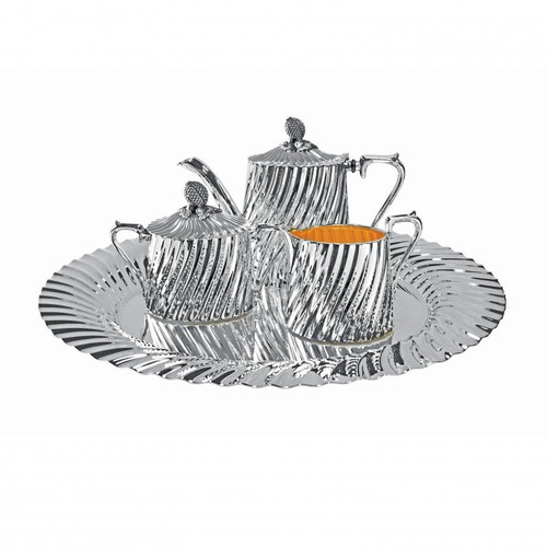 Personal Size Maderia Tea Service Collection in Silverplat Full Set