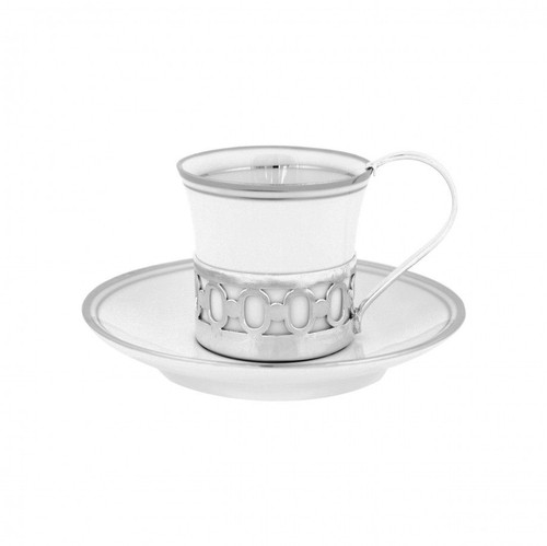 Classical Coffee Cup with Sterling Appliqué