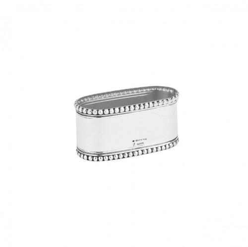 Bead Edge Oval Knapkin Ring