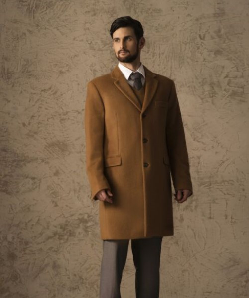 Pure Vicuña Classic Topcoat in Natural