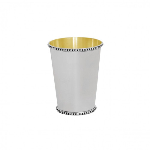 Bead Edge Julep Cup with Gold