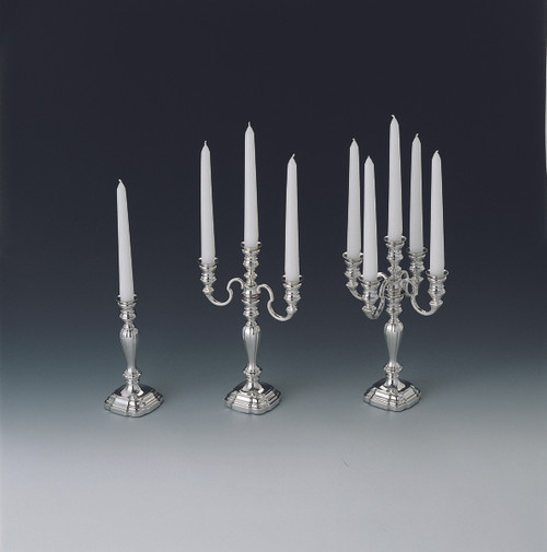 Alt-Augsburg Candle Holder Collection (L to R: One, Three, and Five Light)